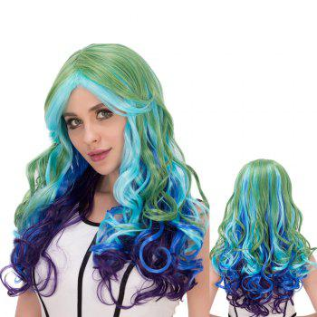 Colorful Film Character Long Wavy Centre Parting Cosplay Wig