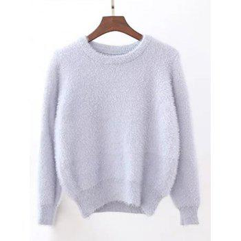 Candy Color Fuzzy Cropped Sweater