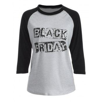 Black Friday Raglan Sleeve T-Shirt