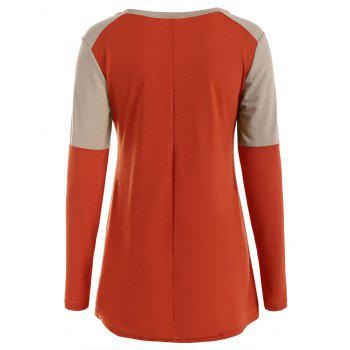 T-shirt Tunique à Faon Pailleté - Tangerine L