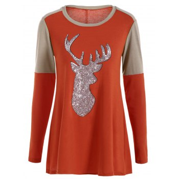 Tunic Sequined Fawn T-Shirt