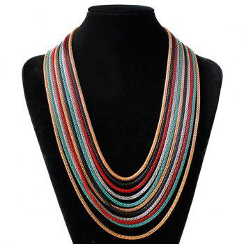 Multicolor Chain Drape Necklace