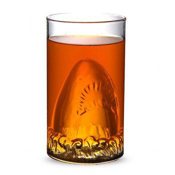 350ML Drinkware Shark Lucency Glass Water Beer Mug -  TRANSPARENT