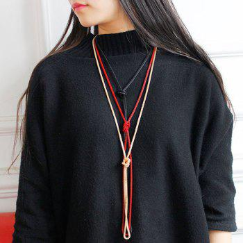 Knotted Ultra Long Necklace