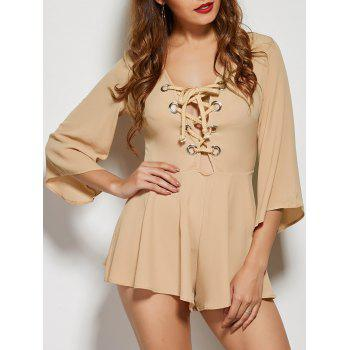 Criss-Cross High-Waist Pleated Romper