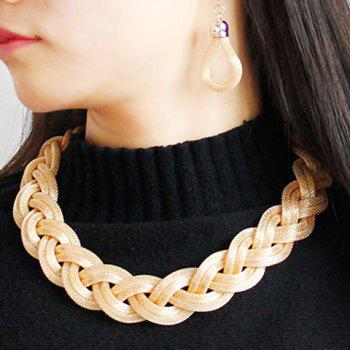 Alloy Knitted Necklace Set