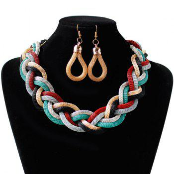Knitted Alloy Multi Color Necklace Set