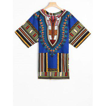 Ethnic Style Dashiki Print Tunic T-Shirt