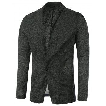 Casual Notch Lapel Texture One-Button Blazer