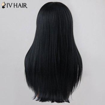 Sunny Long Neat Bang Straight Siv Human Hair Wig - BLONDE