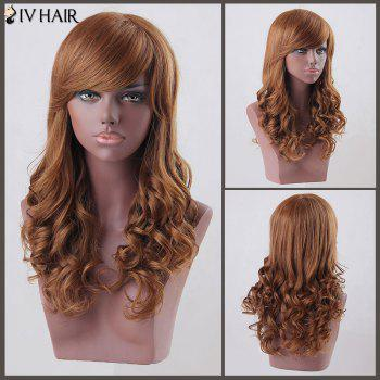 Long Curly Side Bang Siv Human Hair Wig