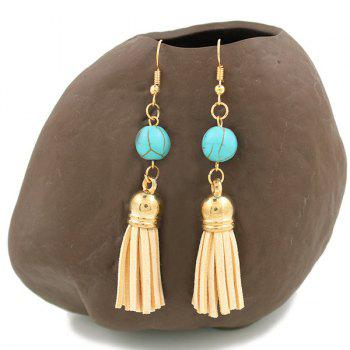Turcos Leather Tassel Dangle Earrings