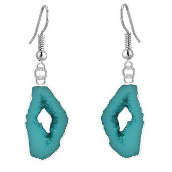 Pair of Faux Turquoise Drop Earrings