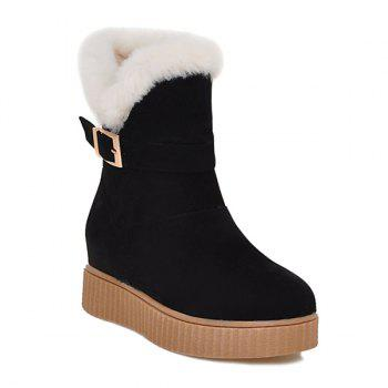 Buckle Round Toe Increased Internal Snow Boots