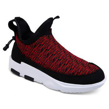 Slip-On Color Block Platform Athletic Shoes