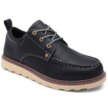 Lace-Up Stitching PU Leather Work Shoes