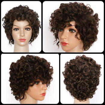 Short Spiffy Synthetic Curly Wig
