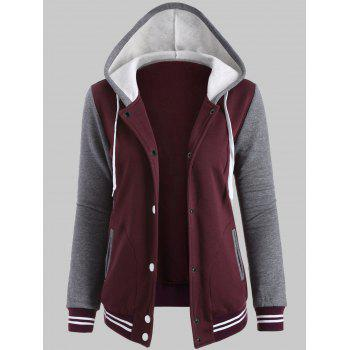 Fleece Baseball Jacket with Hood