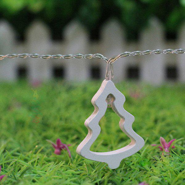 10PCS Christmas Tree Hanging LED Light Bunch Party Supplies Decoration - WARM WHITE LIGHT