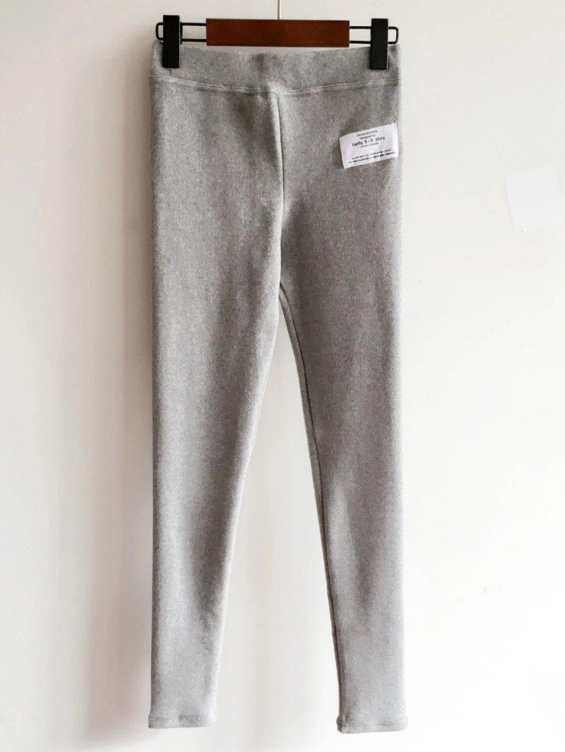 Knitted Applique Thicken LeggingsWomen<br><br><br>Size: ONE SIZE<br>Color: LIGHT GRAY