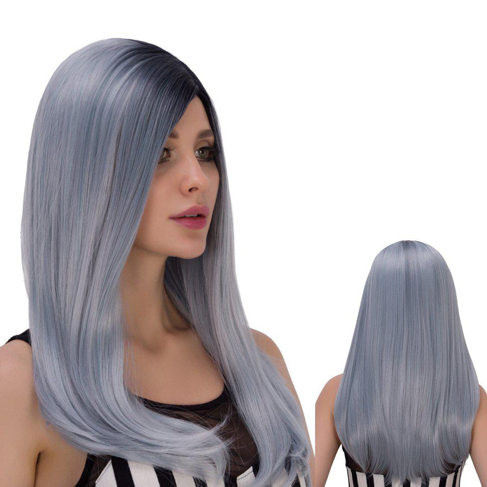 Long Side Bang Mixed Color Tail Adduction Women's Stunning Cosplay Lolita Synthetic Wig