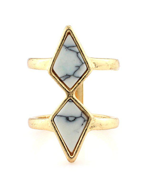 Faux Turquoise Rhombus Cage Ring