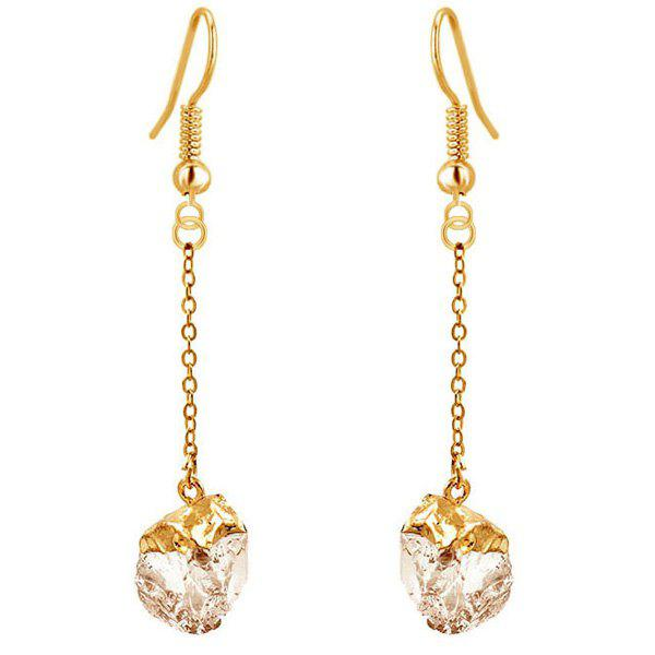 Gold Plated Faux Gem Drop Earrings gold plated faux gem drop earrings