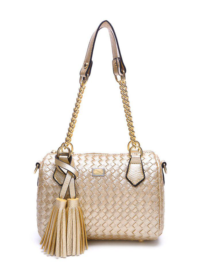 Chains Tassel Weaving PU Leather Shoulder Bag электронный угломер geo fennel a digit 50