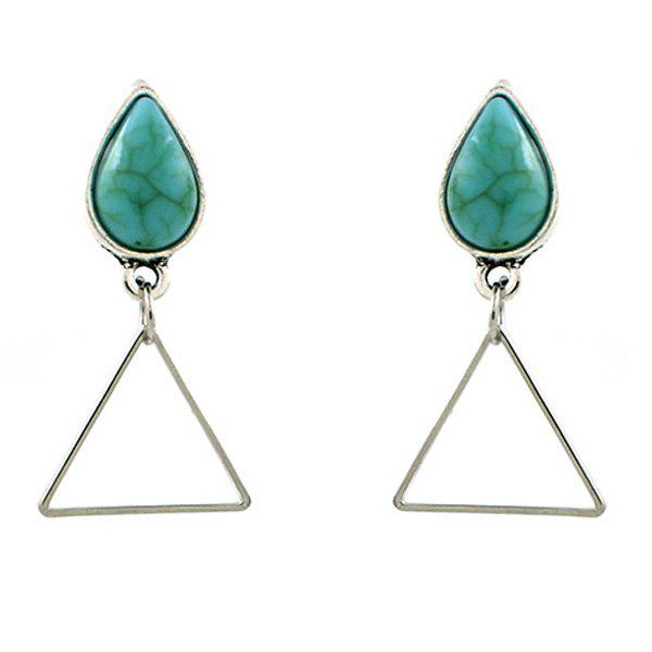 Waterdrop Triangle Turquoise Drop Earrings