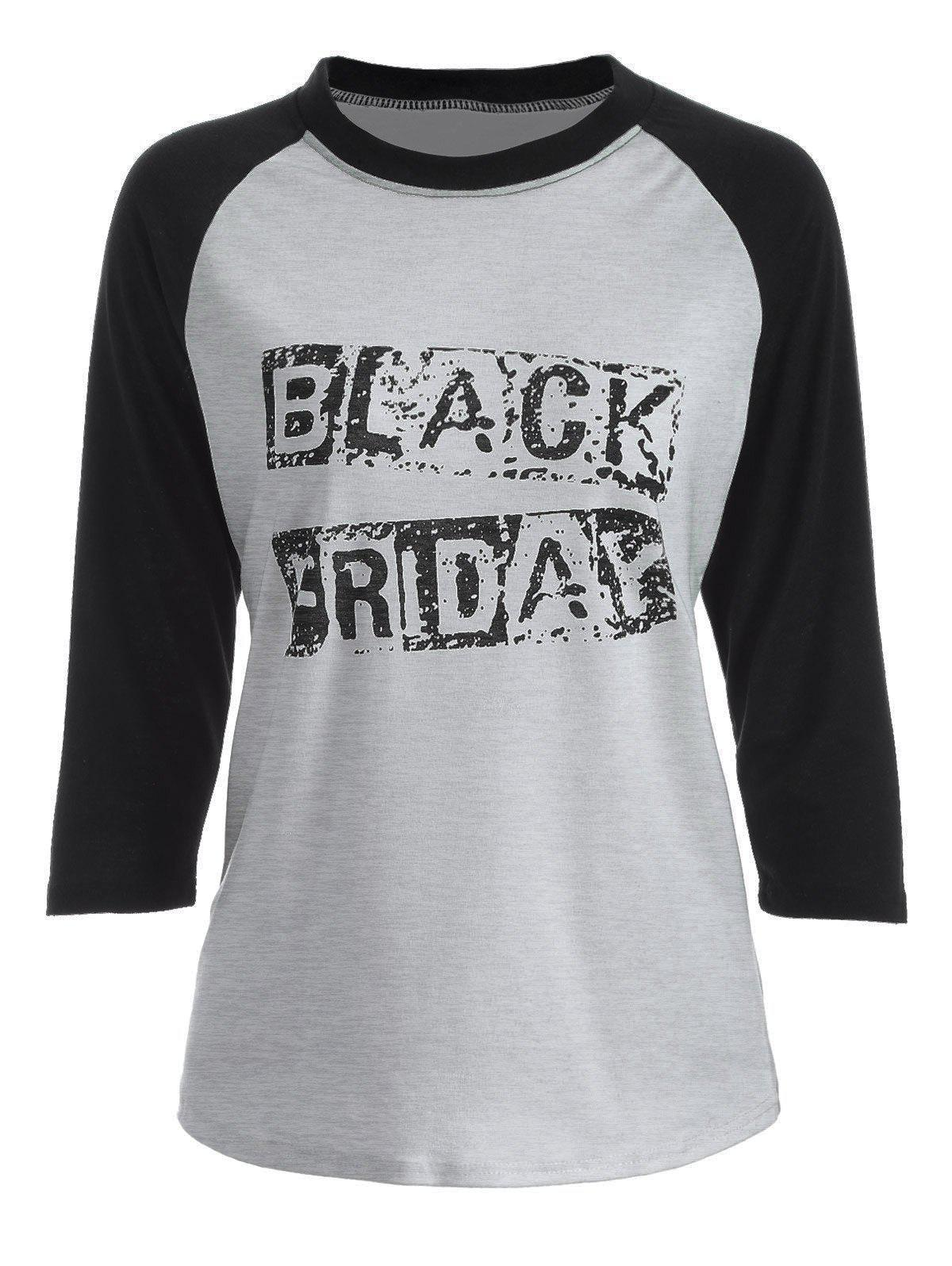 black friday raglan sleeve t shirt gray l in tees t