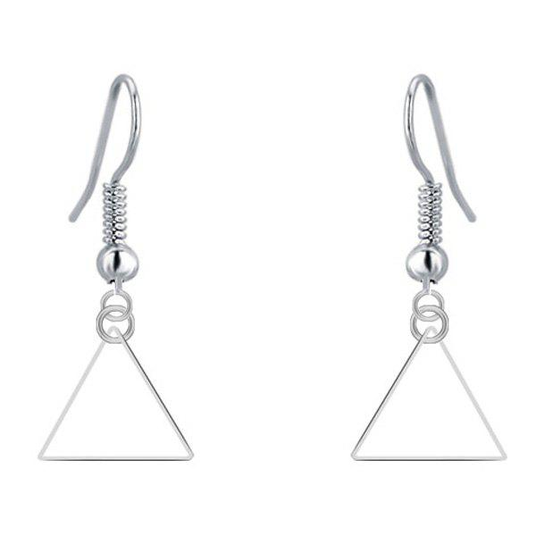 Triangle Geometry Drop EarringsJewelry<br><br><br>Color: SILVER