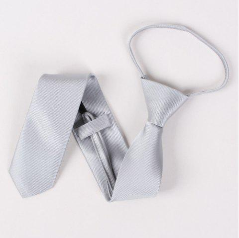Twill Pattern Pure Color High Grade 6.5cm Widt Tie - GRAY