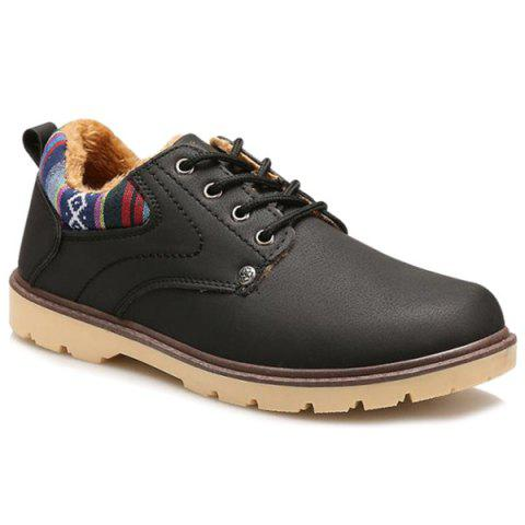 Lace Up Colour Block Casual Shoes - BLACK 41