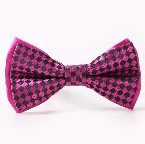 02b77861544c 41% OFF  2019 Simple Plaids Pattern Double-Deck Bow Tie In ROSE ...