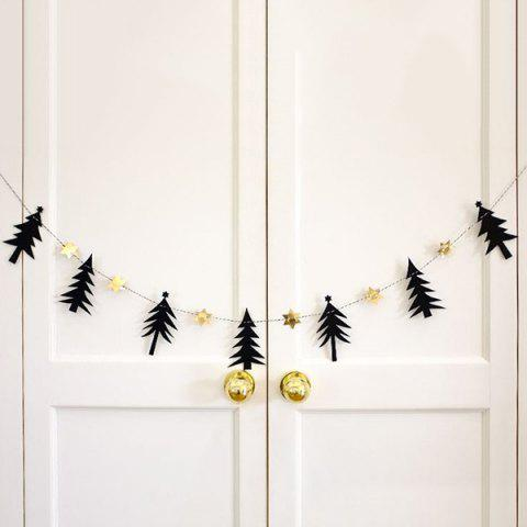 Pine Tree Bunting Garland Christmas Supplies Party Decoration - BLACK