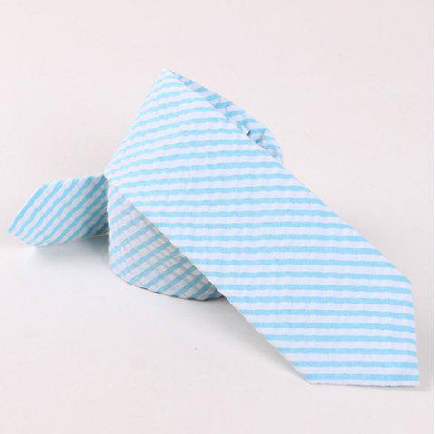 Casual Stripe Print 6.5cm Widt Tie - LAKE BLUE