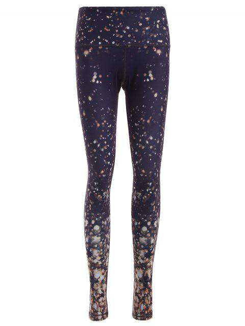 Galaxy Print Skinny Yoga Pants - COLORMIX S