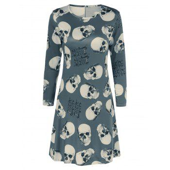 Skulls Halloween Flare Dress