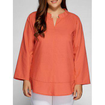 Casual Plain Plus Size Top