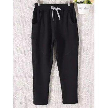 Casual Plus Size Drawstring Sweatpants