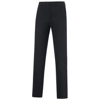 Zipper Fly Pocket Design Straight Leg Tailored Pants