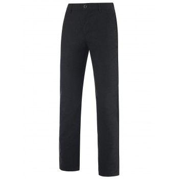 Zipper Fly Patch Pocket Back Mid-Rise Pants