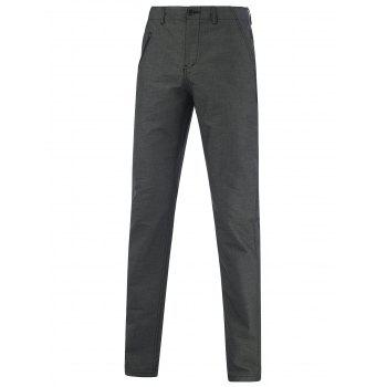 Narrow Feet Hip Pocket Zippered Texture Pants