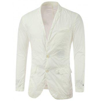 Chest Pocket Notch Lapel Single Breasted Plain Blazer