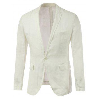 Single Breasted Chest Pocket Notch Lapel Blazer