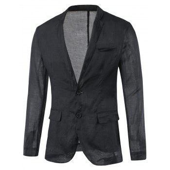 Back Vent Breast Pocket Notch Lapel Plain Blazer