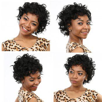Vogue Short Curly Side Bang Synthetic Wig
