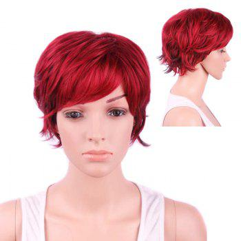 Fresh Short Side Bang Slightly Curled Synthetic Wig