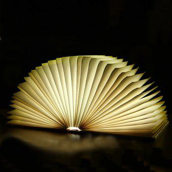 4Color Change Portable Mini Folding Book USB Bedside LED Night Light - BROWN M