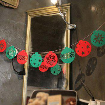 Home Decor Snowflake Balloon Bunting Garland Christmas Party Supplies - RED AND GREEN RED/GREEN